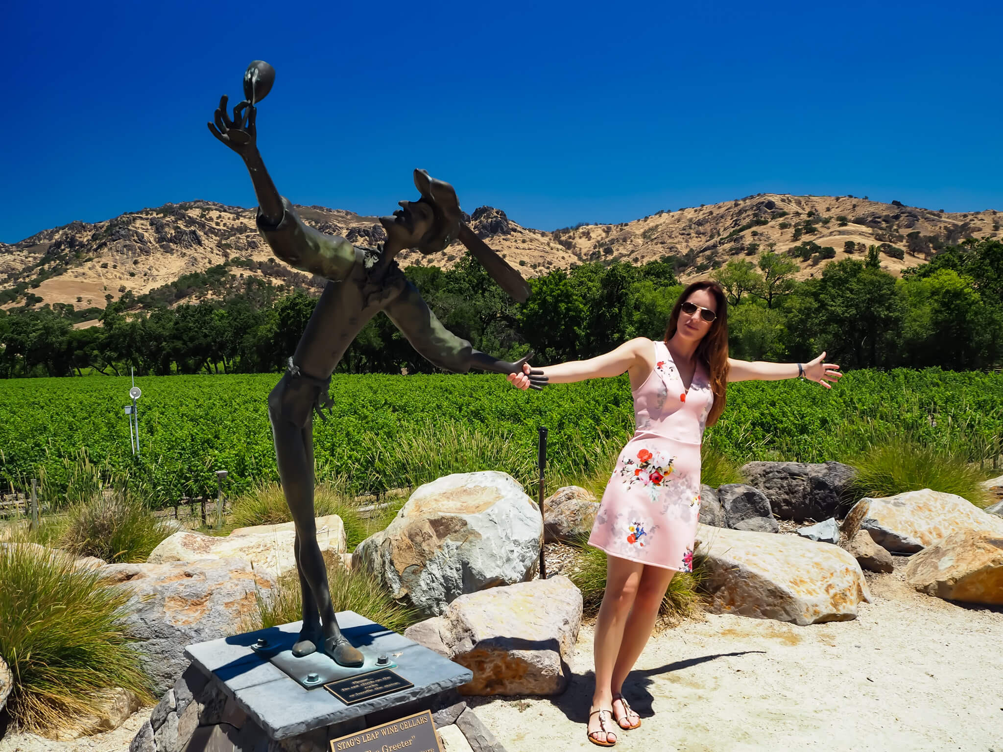 Gloria Valles en Stags Leap Winery