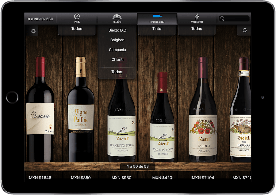 startups: wine advisor